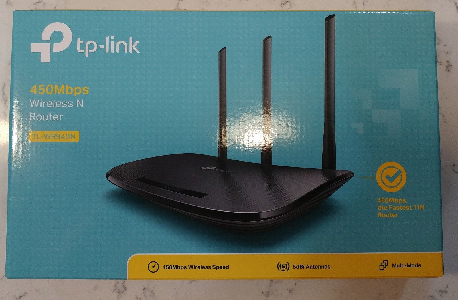 Tp Link Tl Wr940n Router 450mbps Wireless N 300mbps 3 Antenna