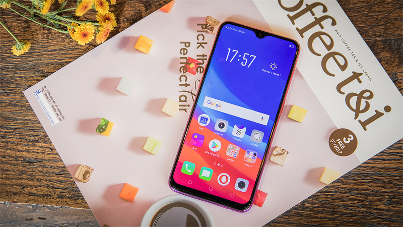 Giao diện Android điện thoại OPPO F9