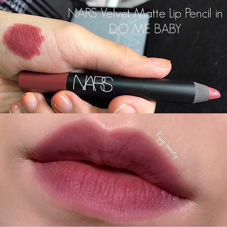 Image result for NARS Velvet Matte Lipstick Pencil màu Do Me Baby