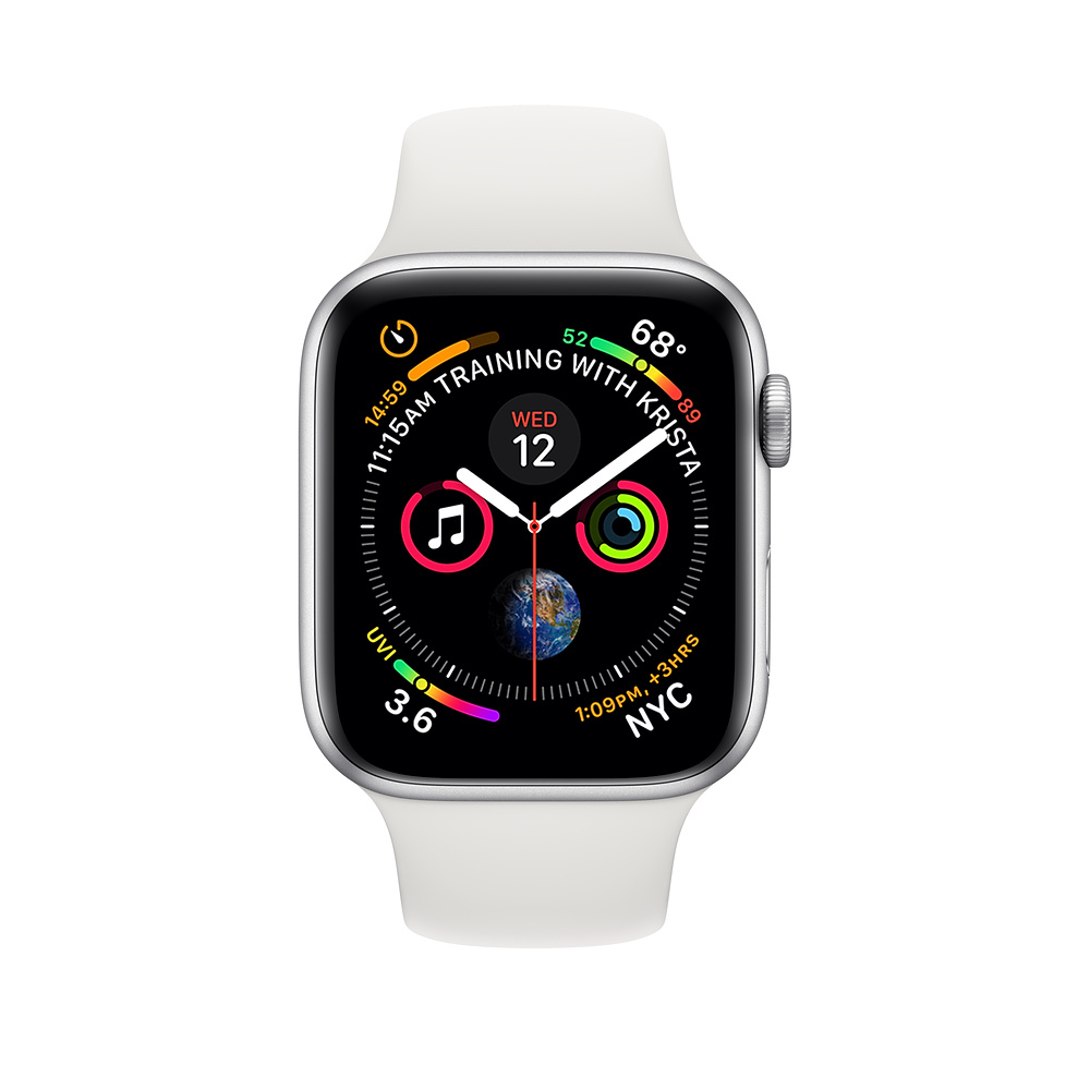Apple Watch Series 4 (GPS, 40mm Silver Aluminum Case with White Sport Band - MU642) (Ảnh 2)