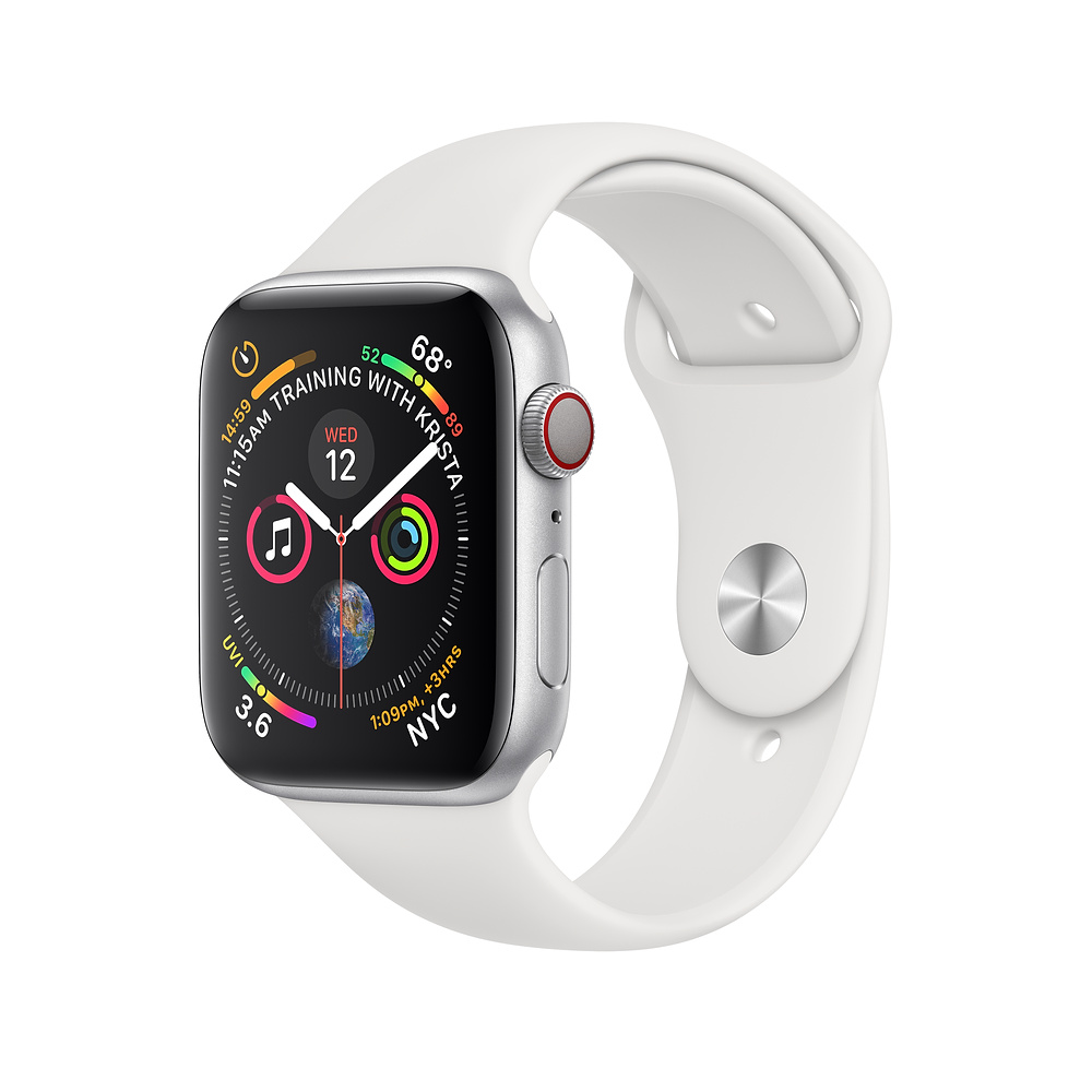 Apple Watch Series 4 (GPS, 40mm Silver Aluminum Case with White Sport Band - MU642) (Ảnh 1)