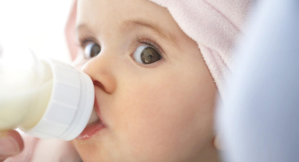 Image result for baby drinking milk