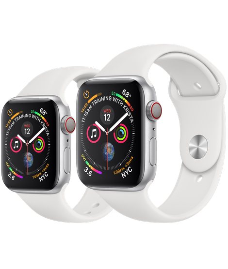 Apple Watch Series 4 (GPS, 40mm Silver Aluminum Case with White Sport Band - MU642) (Ảnh 3)