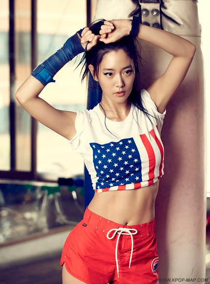 Image result for abs korean girl