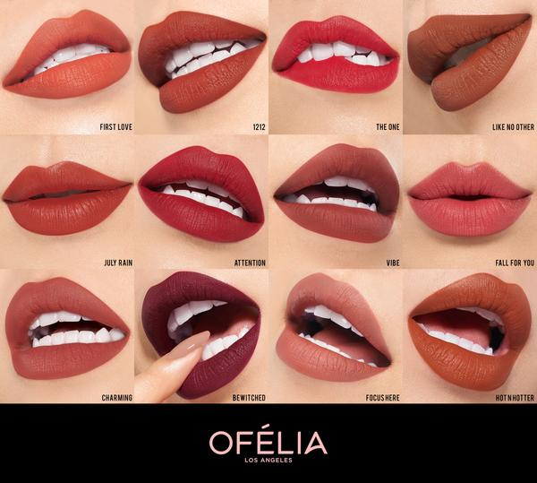 Image result for modern matte lipstick ofelia swatches