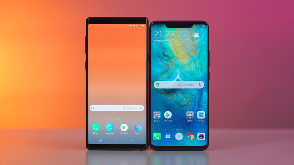 Mate 20 Pro vs Galaxy Note 9
