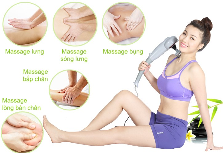 Image result for máy massage 7 đầu