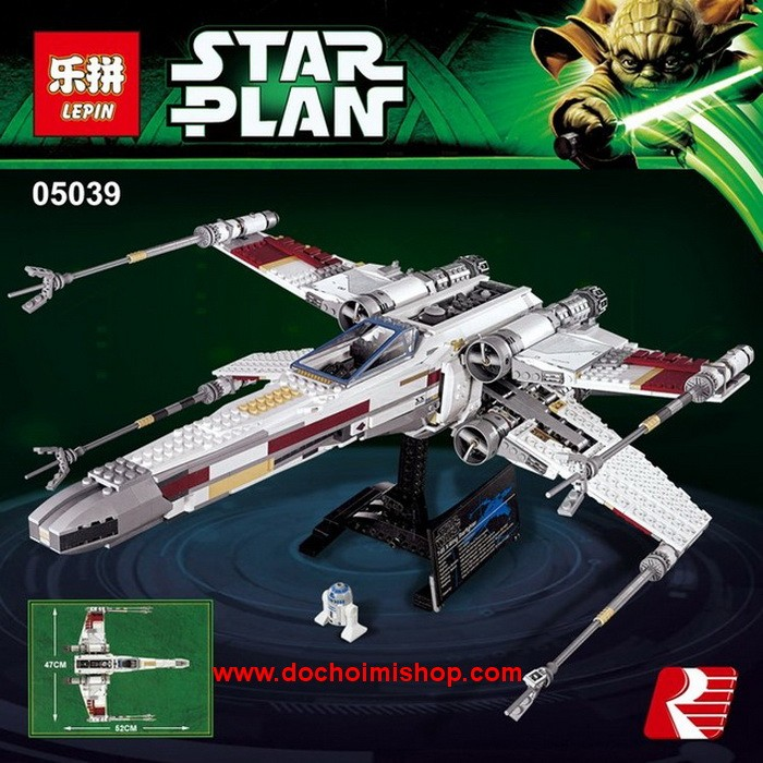 Lắp ráp Star Wars Lepin 05039 Red Five X-Wing Starfighter (Ảnh 8)
