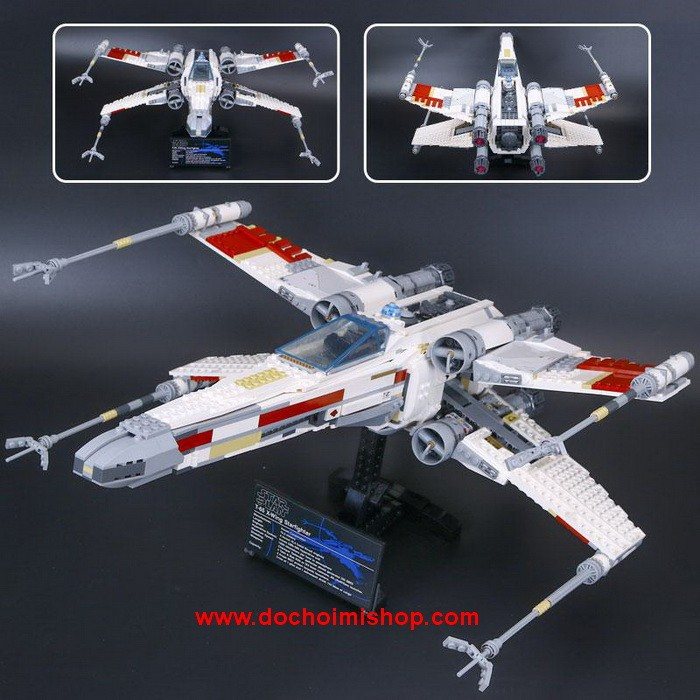 Lắp ráp Star Wars Lepin 05039 Red Five X-Wing Starfighter (Ảnh 2)