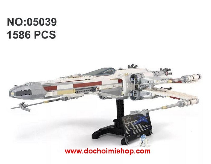 Lắp ráp Star Wars Lepin 05039 Red Five X-Wing Starfighter (Ảnh 1)