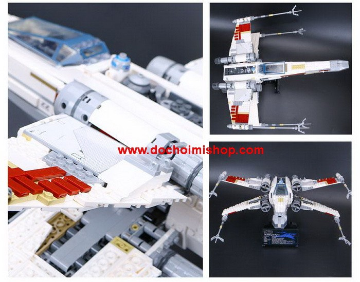 Lắp ráp Star Wars Lepin 05039 Red Five X-Wing Starfighter (Ảnh 5)
