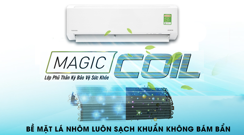Magic Coil - Máy lạnh Toshiba Inverter 1 HP RAS-H10D1KCVG-V