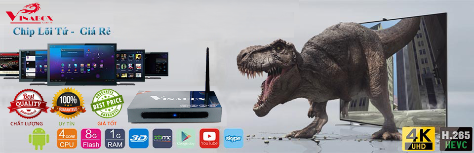 Android TV Box VINABOX X1 4k Global (Ảnh 1)