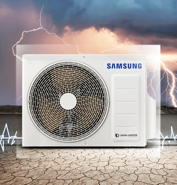 An outdoor unit can endure harsh conditions