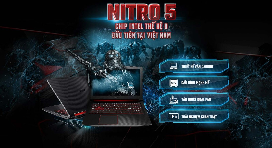 Overview Laptop Acer Nitro 5 AN515-52-70TD 1
