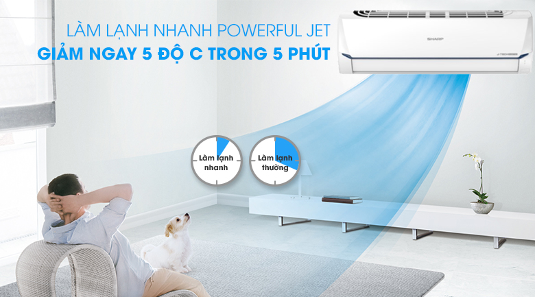Powerful Jet-Máy lạnh Sharp AH-X9XEW