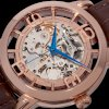 Stuhrling Original Men's Winchester 44 Skeleton Automatic Dark Brown Leather Strap Watch_small 1