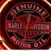 Harley-Davidson Genuine Oil Can Table Top Neon Clock HDL-16621_small 2
