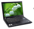 Lenovo Thinkpad R61 (7733-BG2) (Intel Core 2 Duo T8100 2.1Ghz, 2GB RAM, 160GB HDD, VGA Intel GMA X3100, 14.1inch, Windows Vista Downgrade XP Professional)