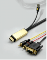 Cable HDMI to VGA and Audio Converter 2M