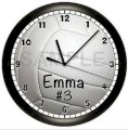 Personalied Volleyball Wall Clock Art Decor Spors Bedroom Team Gift Girls