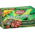 Emerald 100 Calorie Packs Smoked Almonds, 0.56 oz, 7 count Packages (Pack Of 4)
