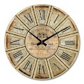 "iCasso 14"" Retro Vintage Chateau Reiner French Country Tuscan Style Non-Ticking Silent Wood Wall Clock Wooden Wall Art Decor"