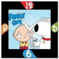 Amore Family Guy 107288 Analog Wall Clock (Multicolor)