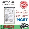 Hitachi Slim 500GB - 5400rpm - 8MB Cache - SATA 3