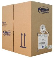 AMP Category 5e UTP Cable, 4-Pair, 24AWG, Solid,...