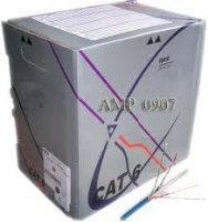 Cable UTP Cat 6E AMP 0-1427254-6 UTP Cable,Cat6,4 Prs,23AWG,Sol,XF,CM,Blue,RB