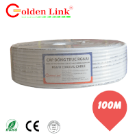 Cáp camera Golden Link RG 6 100m