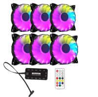 Bộ 6 fan case Coolman Led RGB digital