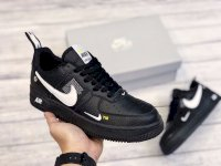 Giày Nike Air force 1 da đen