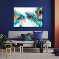 Tranh Canvas Ocean Blue Abstract Alan