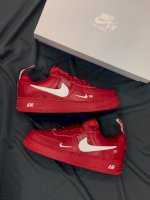 Giày Nike Air force 1 da đỏ