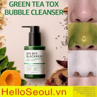 Sữa rửa mặt sủi bọt Somebymi bye bye blackhead 30 days miracle green tea tox bubble cleanse