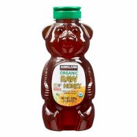 Mật ong Kirkland Signature Raw Organic Honey Bear 680g