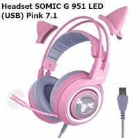 Headset Somic  G 951 led  (USB) Pink 7.1