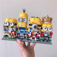 Lắp ráp LW703 Set 4 Minishop Minions