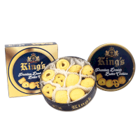 Hộp Bánh King's Premium Danish Butter Cookies 681g