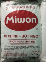 Bột ngọt Miwon size S bao 25 kg