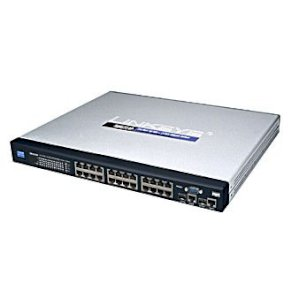 Linksys SRW224P 24-port 10/100M + 2-port Gigabit Rackmount Managed Switch with WebView and PoE