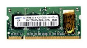 Samsung - DDRam2 - 256MB - Bus 667Mhz - PC 5300 For Notebook