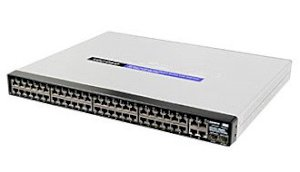 Linksys SRW248G4P 48-port 10/100M + 2-port shared Gigabit combo + 2-port Gigabit Rackmount Managed Switch with WebView and PoE