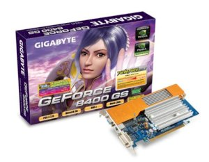GIGABYTE GV-NX84S256HP (NVIDIA GeForce 8400GS, 256MB GDDR2, 64 bit, PCI Express 2.0 x16)