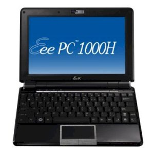 ASUS Eee PC 1000H (BLK057) Netbook Black (Intel Atom N270 1.6MHz, 1GB RAM, 160GB HDD, VGA Intel GMA 950, 10 inch, Windows XP Home)