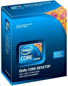 Intel Core i5-650 Clarkdale (3.2GHz, 8MB L3 Cache, 64bits, Bus speed 2.5GT/s, Socket 1156) (Box)