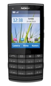 Nokia X3-02.5 Touch and Type Black