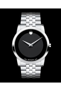 Đồng hồ Movado Watch, Men's Swiss Museum Stainless Steel Bracelet 40mm 0606504
